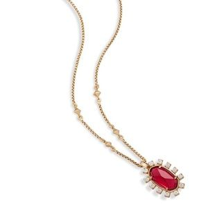 Kendra Scott Brett Necklace in Red Rock Crystal